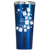 Corkcicle 24 oz White Christmas Presents  on Blue Translucent Tumbler