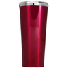 Corkcicle 24 oz Bright Star on Leafy Tree on Red Translucent Tumbler