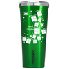 Corkcicle 24 oz White Christmas Presents  on Green Translucent Tumbler
