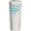 Corkcicle 24 oz Aqua Nurse Life on Stainless Tumbler