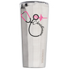 Corkcicle 24 oz Nurse Stethoscope Pink Personalized on Stainless Tumbler