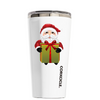 Corkcicle 16 oz Chubby Santa With Gift on White Tumbler