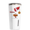 Corkcicle 16 oz Believe in Santa to the North Pole White Tumbler