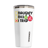 Corkcicle Naughty Nice I Tried on White 16 oz Tumbler Cup