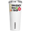 Corkcicle Naughty Nice I Tried on White 24 oz Tumbler Cup