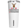 Corkcicle 24 oz OCD Obsessive Christmas Disorder on White Tumbler