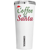 Corkcicle Coffe for Santa on White 24 oz Tumbler Cup