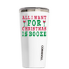 Corkcicle 16 oz All I Want for Christmas is Booze on White Tumbler