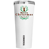 Corkcicle Merry Christmas Deer on White 24 oz Tumbler Cup