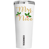 Corkcicle 24 oz Mrs Nice on White Christmas Tumbler