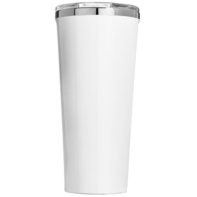 Corkcicle 24 oz Think like a Proton and Stay Positive on White Gloss Tumbler