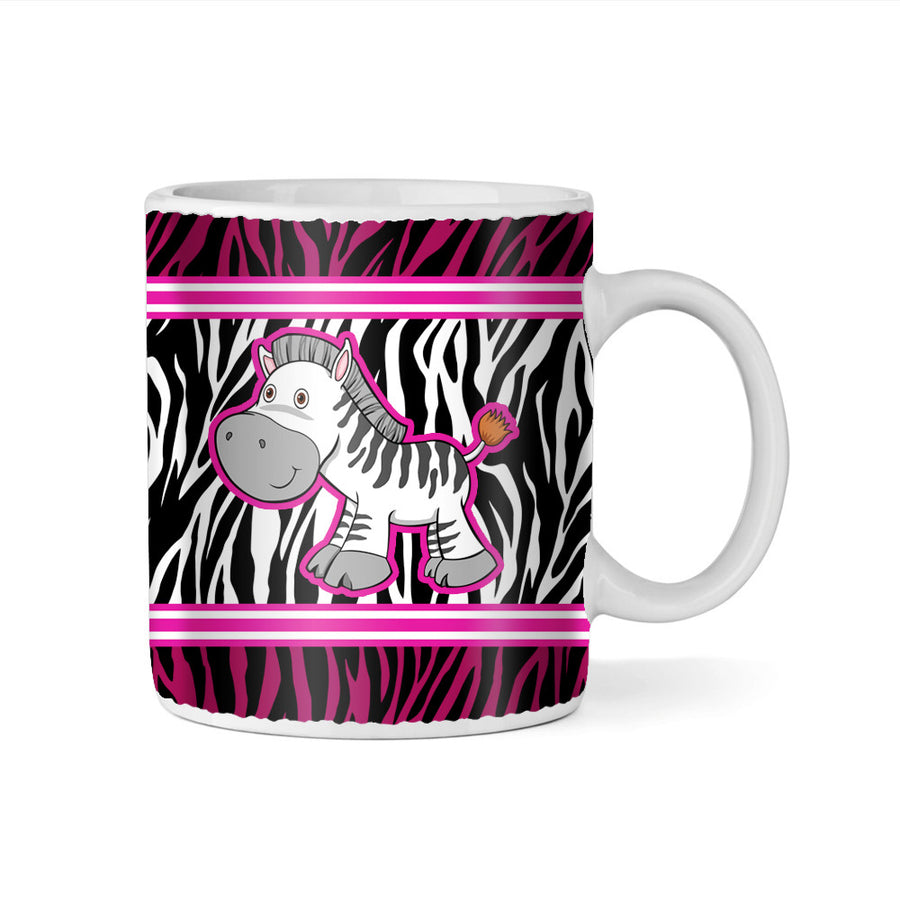 Happy Zebra Monogram 11oz Coffee Mug