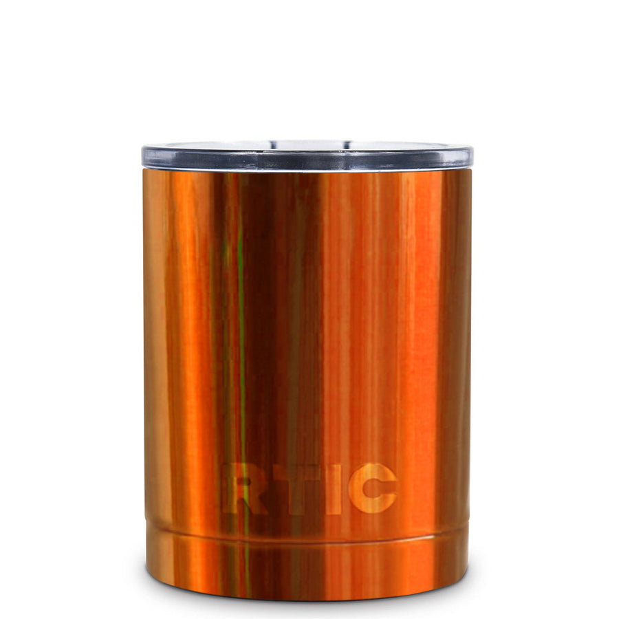 RTIC Orange Translucent 10oz Lowball Tumbler - TrekTumblers