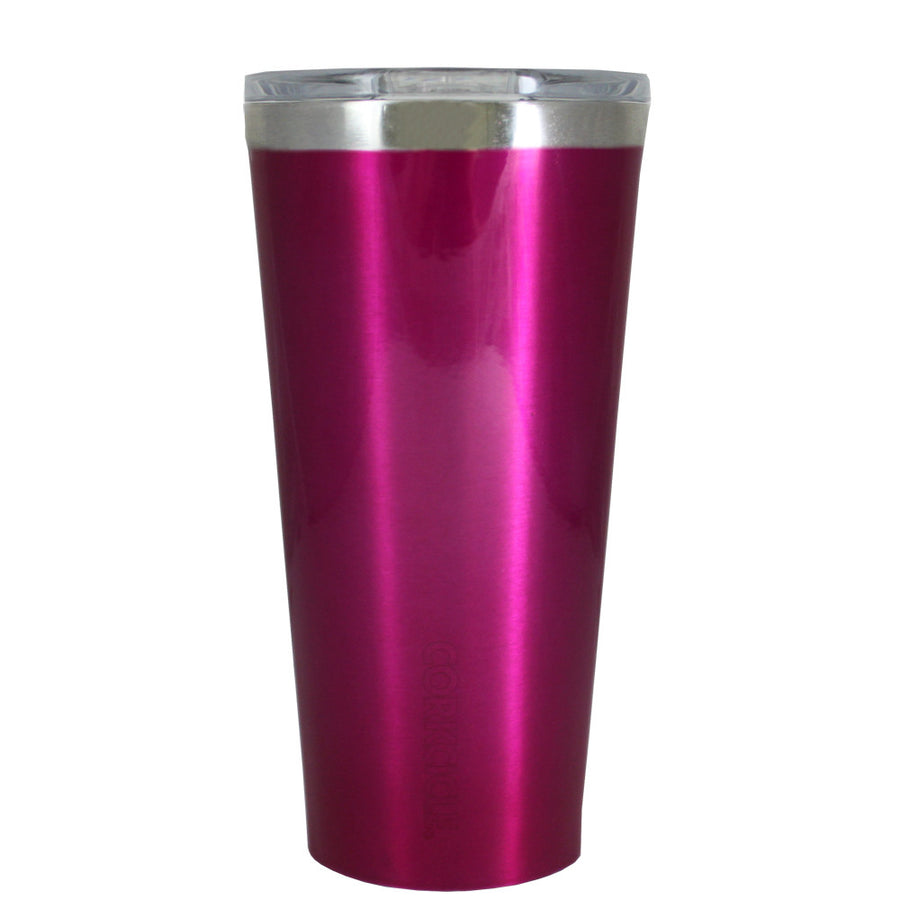 Corkcicle 16 oz Hot Pink Translucent Gloss Tumbler