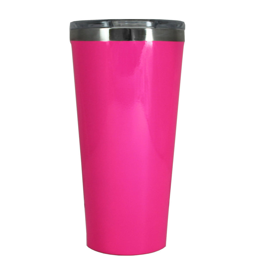 Corkcicle 16 oz Hot Pink Gloss Tumbler