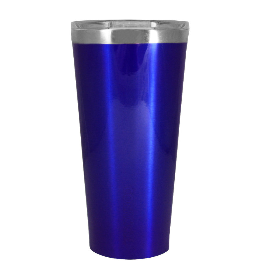 Corkcicle 16 oz Intense Blue Translucent Tumbler