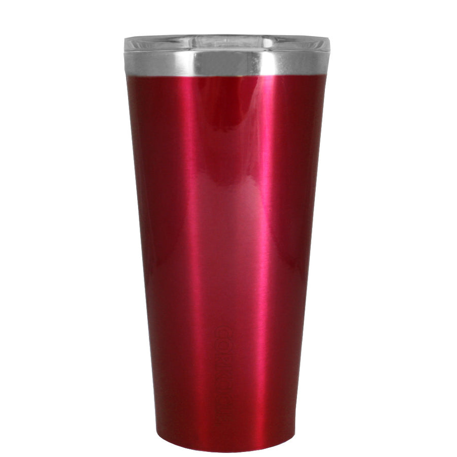 Corkcicle 16 oz Red Translucent Tumbler