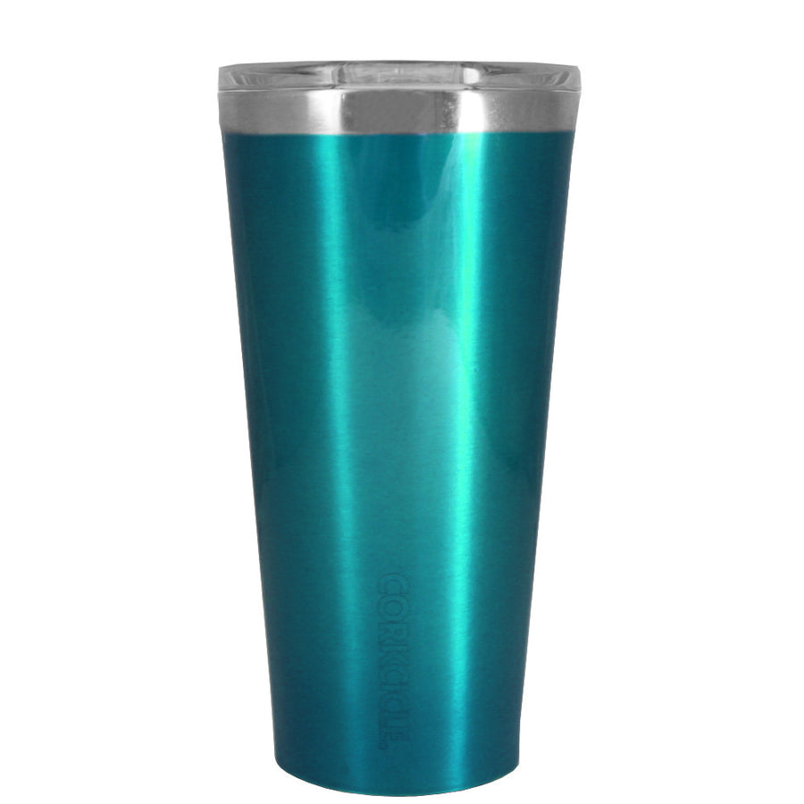 Corkcicle 16 oz Teal Translucent Tumbler