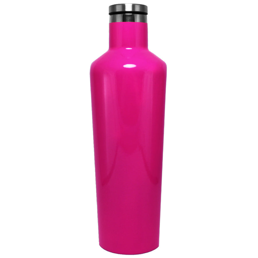 Corkcicle Hot Pink Gloss 25 oz Canteen