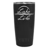 YETI Lake Life on Black Matte 20 oz Tumbler