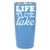 YETI Life is Better by the Lake Anchor on Powder Blue 20 oz Tumbler