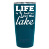 YETI Life is Better by the Lake Anchor on Sea Blue 20 oz Tumbler