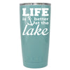 YETI Life is Better by the Lake Anchor on Seafoam 20 oz Tumbler