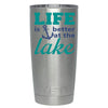 YETI Life is Better by the Lake Anchor on Stainless 20 oz Tumbler