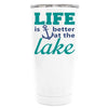 YETI Life is Better by the Lake Anchor on White 20 oz Tumbler