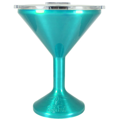 Orca Teal Translucent Chasertini 8 oz Tumbler