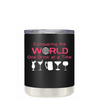 Conquering the World on Black Matte 10oz Lowball Tumbler