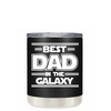 Best Dad in the Galaxy on Black Matte Lowball Tumbler