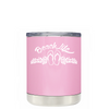 Beach Life Flowers and Sandals on Pretty Pink Lowball Tumbler