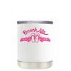 Beach Life Flowers and Sandals on White Lowball Tumbler