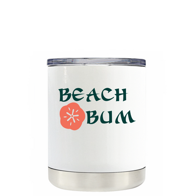 Beach Bum on White Lowball Tumbler