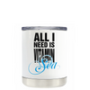 All I Need is Vitamin Sea on White Lowball Tumbler