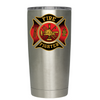 Black Red Fire Department Badge Tumbler