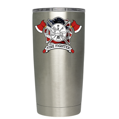 American Flag FireFighters Tumbler
