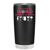 Conquering the World on Black Matte 20oz Tumbler