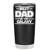 Best Dad in the Galaxy on Black Matte Tumbler