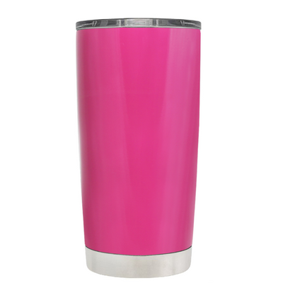 Beach Hair Tan Lines and Mermaid Vibes on Bright Pink 20 oz Tumbler Cup