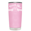Beach Life Flowers and Sandals on Pretty Pink Tumbler