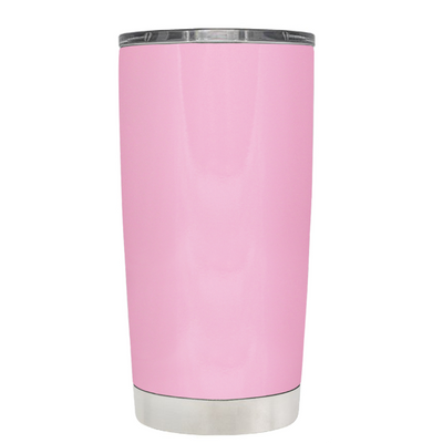 Beach Life Flowers and Sandals on Pretty Pink 20 oz Tumbler