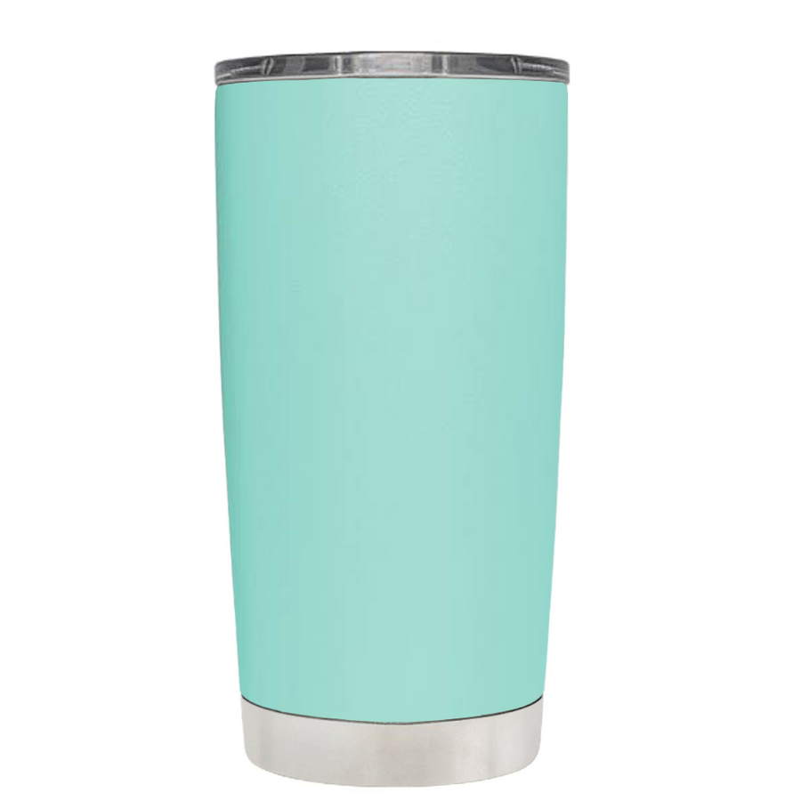 Nurses Stethoscope Black White on Seafoam Tumbler