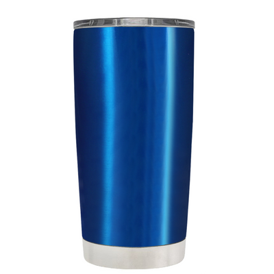 Be a Mermaid and Make Waves on Translucent Blue 20 oz Tumbler Cup