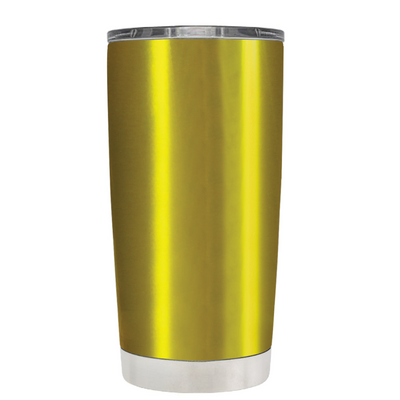 Beach Hair Tan Lines and Mermaid Vibes on Translucent Gold 20 oz Tumbler Cup