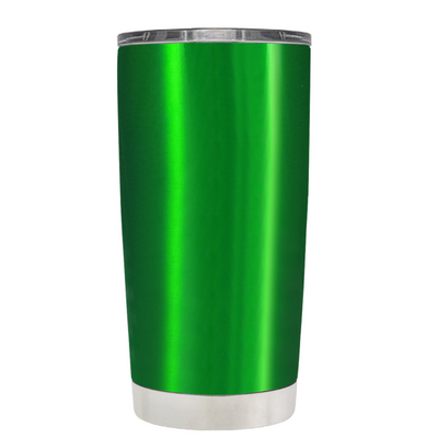 2018 Graduation Cap Monogram on Translucent Green 20 oz Tumbler Cup