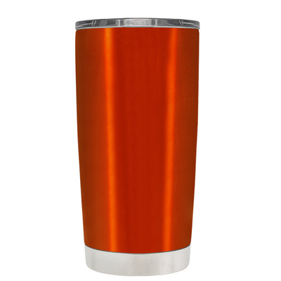 Beach Hair Tan Lines and Mermaid Vibes on Translucent Orange 20 oz Tumbler Cup