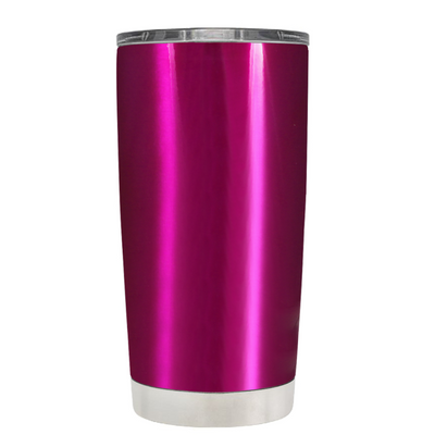 Be Strong when you are weak on Translucent Pink 20 oz Police Tumbler