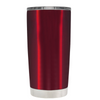 Beach Hair Tan Lines and Mermaid Vibes on Translucent Red 20 oz Tumbler Cup